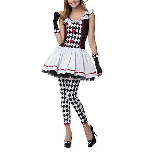 Circus Costume For Women (Evelin LEE Women Circus Clown Halloween Costumes Adult Cosplay Outfits)