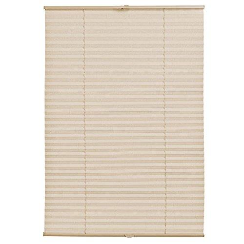 [neu.haus] Klemmfix Plissee (110 x 150 cm) (creme) - Sonnen- und Lichtschutz - blickdicht (bohren entfällt)