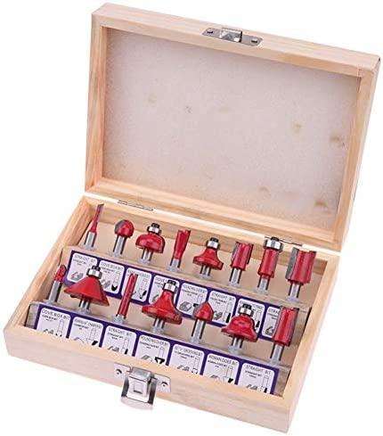 Akku-Bohrschrauber Shank Wolframkarbid Fräser Set Wood Cutter Werkzeug-Set Fräsen Holzschneider Router-Bit gesetzt ist, for Holz-Tools
