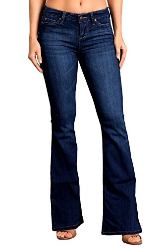Celebrity Pink Women's Mid Rise Flare Jeans 11 Vance CJ21060H18