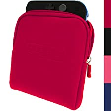 iGadgitz Red Neoprene Sleeve Protective Travel Pouch Carry Case Cover for Nintendo 2DS