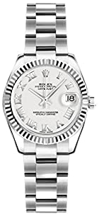 Rolex Lady-Datejust 26 179174 White Dial Oyster Bracelet Women's Watch