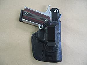 Kimber Ultra Carry 1911 IWB Leather In The Waistband Concealed Carry Holster BLACK RH