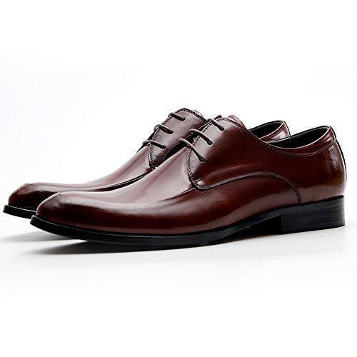 Red Puntiagudo Regalo Oficina Para Diaria Hombre Cordones Boda Con Vintage De Empresarial Zapatos Formales Cuero Derby Vestir Cumpleaños 8qZPTwnR