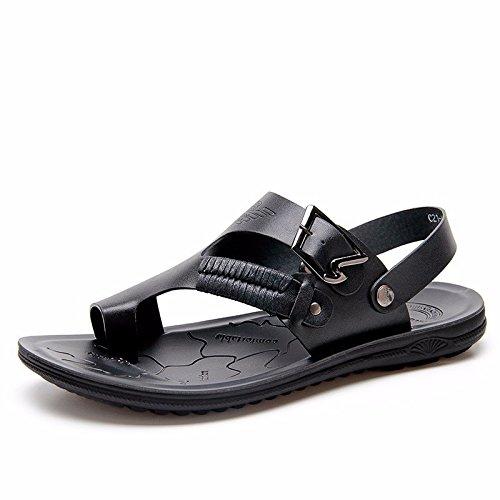 Il nuovo Uomini sandali Uomini estate traspirante Spiaggia scarpa Uomini sandali Uomini Antiscivolo Tempo libero scarpa ,nero,US=9.5,UK=9,EU=43 1/3,CN=45
