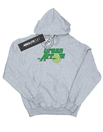 Capucha Text Arrow Comics Mujer Logo Cuero Green Gris Dc q7A4gRW