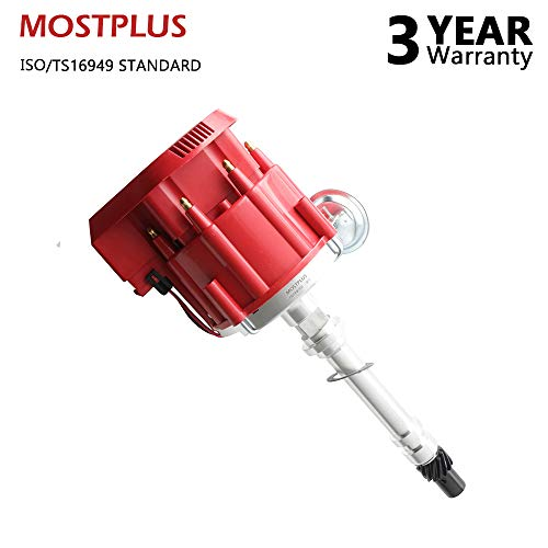 MOSTPLUS New Racing HEI Distributor Red Cap Super Coil for Chevy SBC 305/350/400 Small Block 1035001 HEI, -