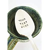 Custom Spoon/Design Your Own/Personalized Spoon/Hand Stamped Silverware/Gift Under 20