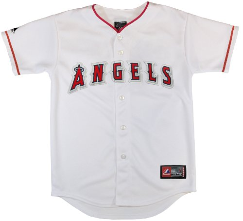 MLB Los Angeles Angels Replica Jersey, White, Small