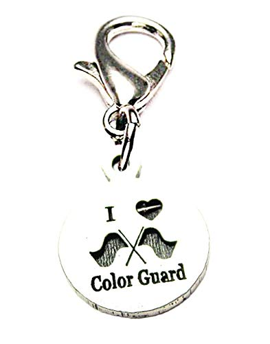 ChubbyChicoCharms I Love Color Guard Pewter Charm On A Zipper Pull