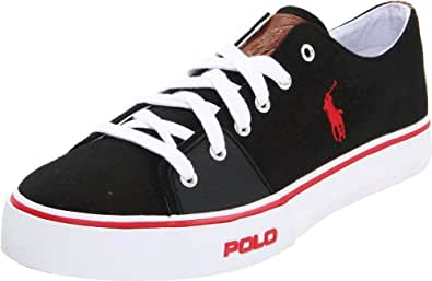Polo Ralph Lauren Men's Cantor Low Sneaker, Black, 9 D US