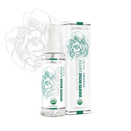 Alteya Organics Bulgarian White Rose Water (Rosa Alba) - Organic 3.4oz Spray, Therapeutic Grade, From Alteyas Rose Fields and Distillery