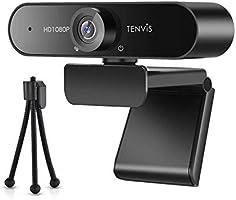 webカメラ マイク内蔵 TENVIS ウェブカメラ USBカメラ フルHD1080P 200万画素 110°超広角レンズ 自動光補正 固定焦点 三脚つき 1.5mUSBケーブル付き...