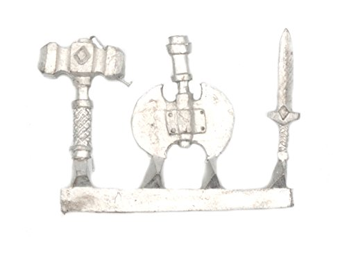 Stonehaven Axe, Sword, and Large Hammer Accessories Miniature Figure for 28mm Table Top Wargames - Made in USA