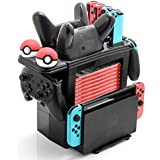 Controller Charger for Nintendo Switch, Charging Dock for Nintendo Switch 4 Joy-Cons, 2 Pro Controllers and 2 Poke Ball Plus Controllers, Storage Rack for Nintendo Switch and Switch Accessories