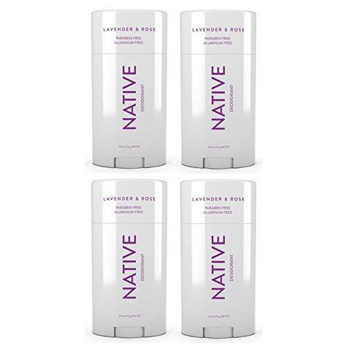 Native Deodorant Lavender & Rose 2.65oz (Lavander, 4 pack) ()