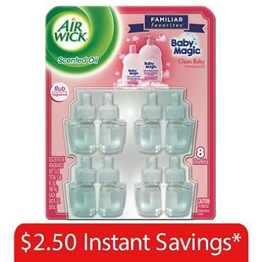Air Wick Scented Oil Refills, Baby Magic (16 Pack)