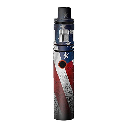 Skin Decal Vinyl Wrap for Smok Stick V8 Pen Vape stickers skins cover/ American Flag distressed