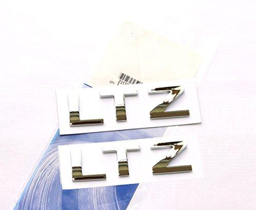 Yoaoo® 2x Pair OEM Chrome LTZ Letter Nameplate Emblem Badge 2008-2015 Chevrolet Cruze Silverado Yukon (Chrome Chevrolet Emblem)