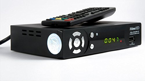 UK FULL HD 1080P FREEVIEW HD Set Top Box Digital TV Receiver & USB HD Recorder DVB-T2 HD Digibox Terrestrial Tuner Analogue to Digital Television Converter Connects HDMI or SCART 7 Chrome Button