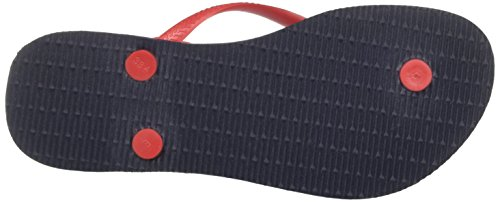 Havaianas ruby Multicolore Bleu Slim Tongs navy Femme Red Logo rouge rSrq1R