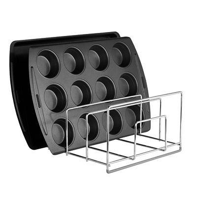 Chrome Lakeland Baking Sheet /& Tray Storage Rack Holds up to 8