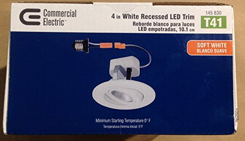 12 Pack T41 Commercial Electric 4 In White Recessed Led Gimbal