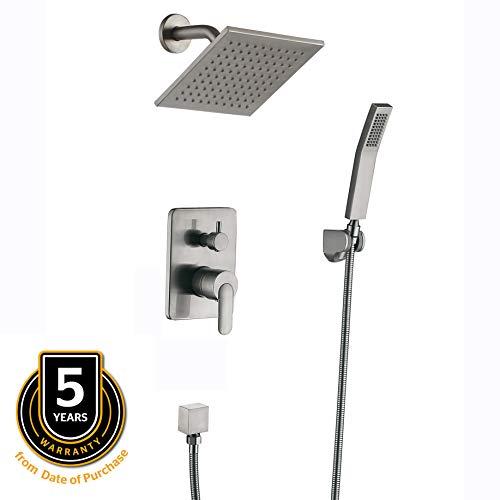 shower faucet brushed nickel metal