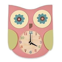 Tree by Kerri Lee Owl Clock, Pink