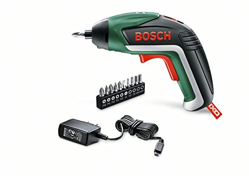 Bosch DIY Akku-Schrauber IXO 5. Generation, 10 Schrauberbits, USB-Ladegerät, Metalldose (3,6 V, 1,5 Ah, 215 min-1 Leerlaufdrehzahl)