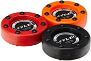 Mylec Roller Puck Variety 3 Pack Roller Hockey Pucks, Red/Orange/Black