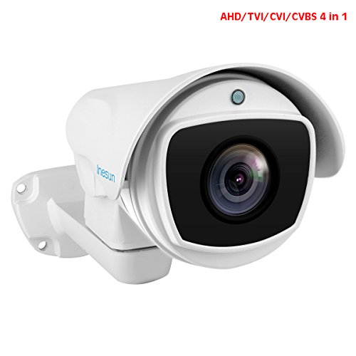 Inesun 1080p Outdoor PTZ Bullet Camera 2MP 10X Zoom 4-In-1 HD AHD/CVI/TVI/CVBS Video Surveillance Camera with 330ft High-Intensity Laser IR LEDs for Night Vision and 5.1-51mm Varifocal (4in 1 Laser Level)