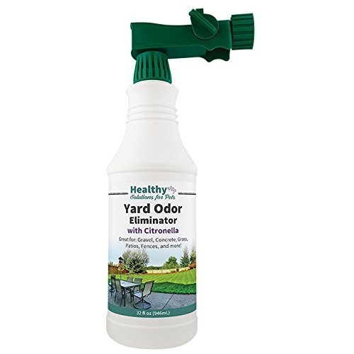 Eliminate Pet Odors In Your Yard and Outdoor Areas, Stool and Urine Deodorizer, Fresh Citrus Smell with Citronella for Added Bug Control, Made in the USA by Healthy Solutions for Pets