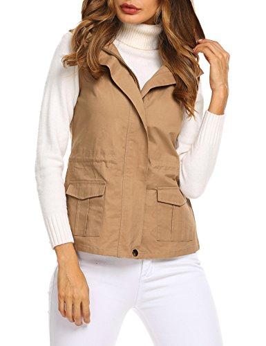 Womens Clothing : Vests Khaki - 2