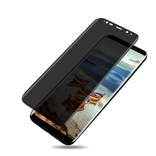 Samsung Galaxy S8 Plus Screen Protector, Top Canyon Galaxy S8 Plus Privacy Screen Protector, Galaxy S8 Plus Privacy Tempered Glass Anti-Spy [3D Curved] [Case Friendly]