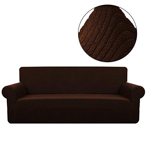 tomoyou Soft Stretch Furniture Cover, Sand Sofa Slipcover, W