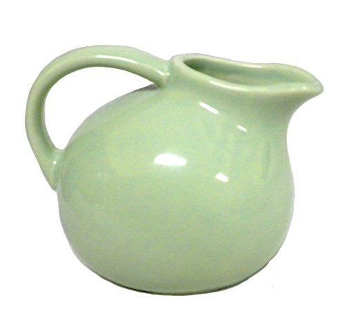 180D Small Round Stoneware Pitcher Creamer Retro Colors, Green, -
