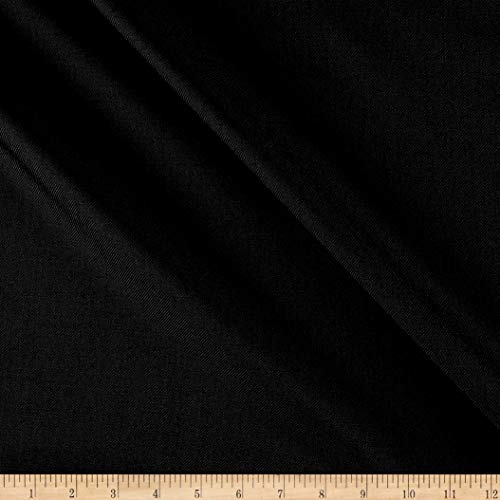 Tuva Textiles Solid Wool Blend Gabarine Fabric, Off Black, Fabric By The Yard