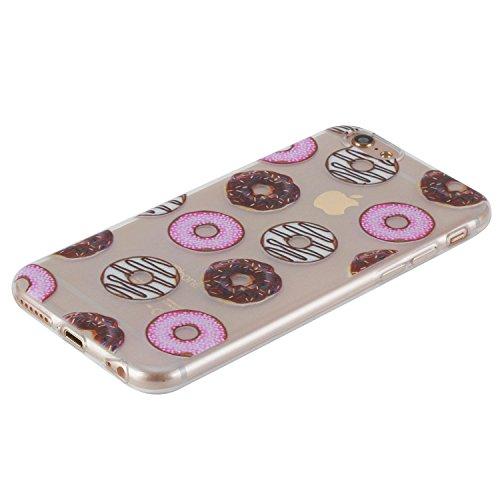 Beiuns pour Apple iPhone 6 Plus (5,5 pouces) Coque en Silicone TPU Housse Coque - HX522 Donuts
