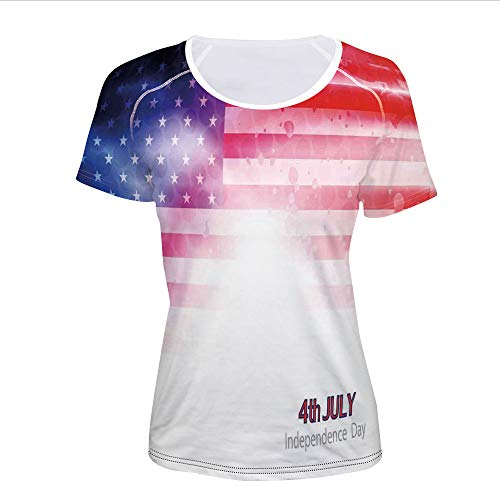 Women's T-Shirt,Background Stars Stripes Famous Country,Pictures (Famous Stars Stripes Shirts)