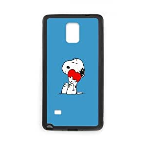 Durable Hard cover Customized TPU case Snoopy Love Samsung Galaxy Note 4 Cell Phone Case Black