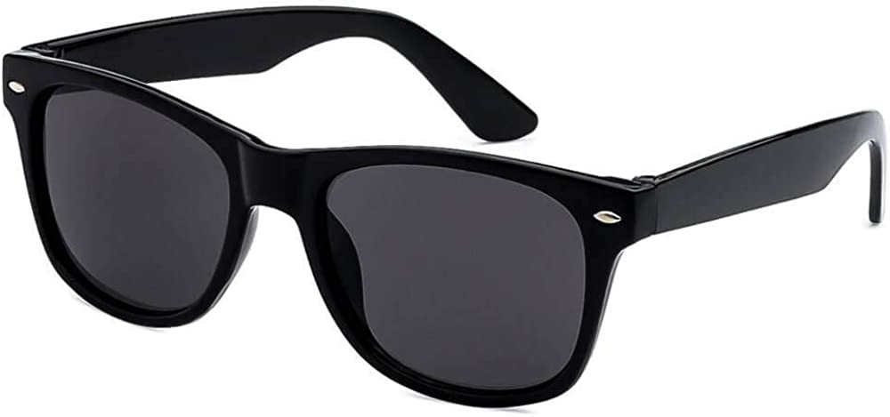 Kids Sunglasses Black Vintage Shades for Children Boys & Girls with UV400 Protection (Ages 3-10) - Thacher's Nook