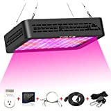 LED Grow Light,TOLYS 2019 Double Switch 1000W Plant Grow Lights with Timer, Thermometer Humidity Monitor Adjustable Rope Full Spectrum Grow Lamps