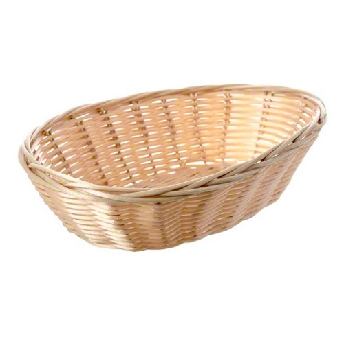 Tablecraft (1174W) 9'' Oval Natural Handmade Basket [Set of 12]