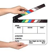 AFAITH Clapperboard Ciak da Regista cinematografico Acrilica tavola di rivestimento esterno Secco...