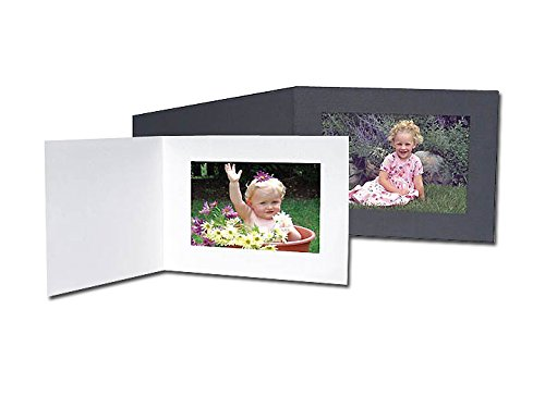 (Black Cardstock Paper Certificate Folder frame w/plain border sold in 25s - 8.5x11)
