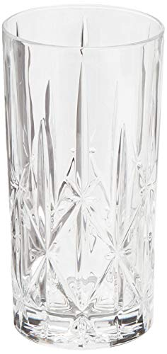 Waterford Beverage Glass - Marquis by Waterford 160422 Sparkle High Ball Glasses, 22-Ounce, Set of 4