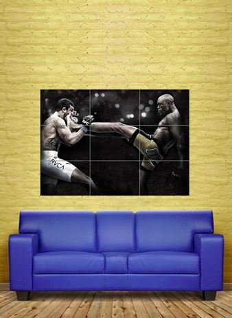 ANDERSON DA SILVA THE SPIDER MIXED MARTIAL ARTS UFC GIANT PO
