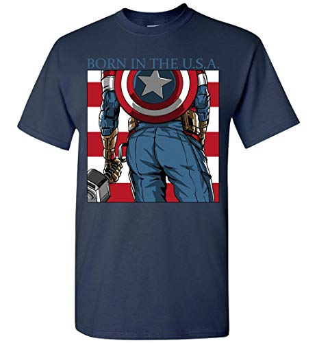 Born In The USA CT American Funny Avenger Supper Heroes Fans Shirt -