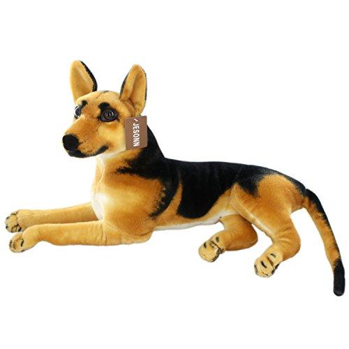 JESONN Realistic Stuffed Animals German Dog Shepherd Plush Toys (23.6 Inch) ()